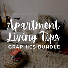 Apartment Living Tips Graphic Bundle