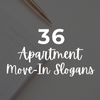 36 Apartment Move-In Slogans